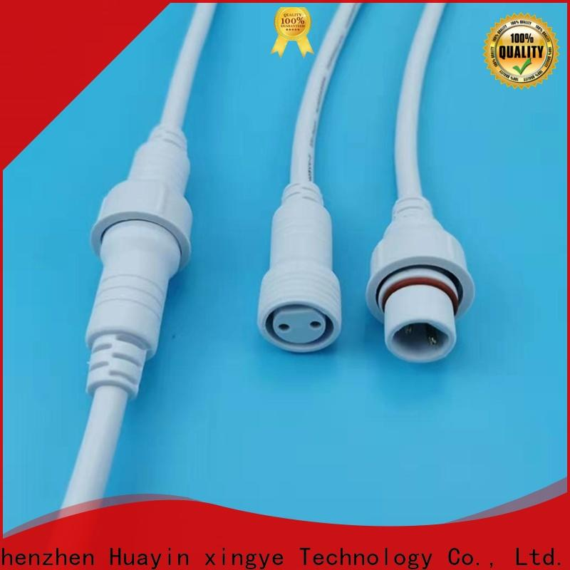 HUA YIN 2 pin waterproof connector plug cable for electronic industry
