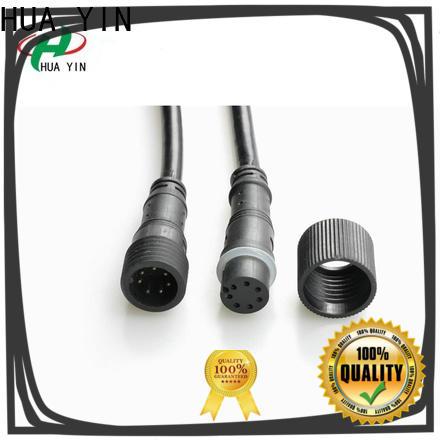 HUA YIN white 12v plug connectors manufacturer for laser