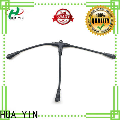 HUA YIN cable oem t connector supplier for led