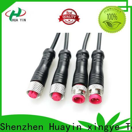 HUA YIN three pin waterproof electrical plug wholesale for display screen