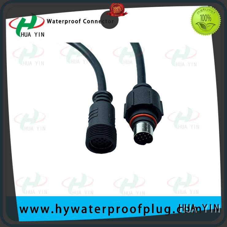 HUA YIN two pin 12v plug connectors cable for display screen