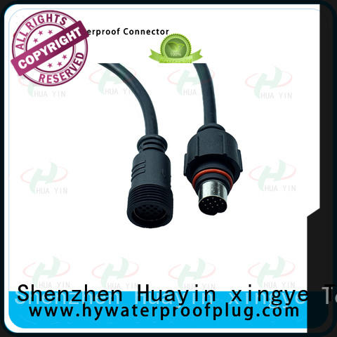 HUA YIN three pin waterproof electrical plug for led