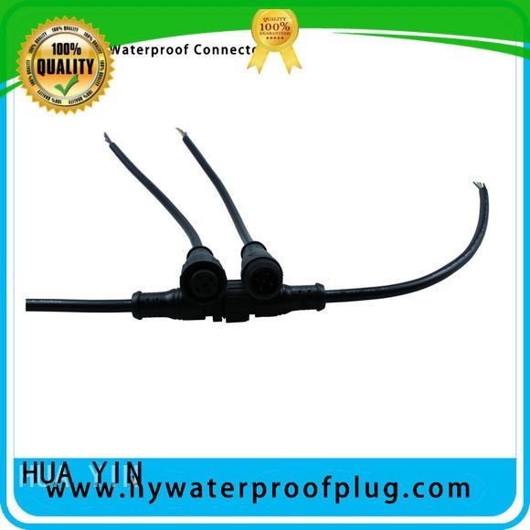 HUA YIN five pin Metal PVC Waterproof Plug wholesale for led