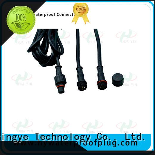 HUA YIN three pin 2 pin waterproof connector plug suipplier for floor heating