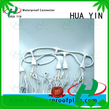 HUA YIN one input pvc y connector maker for display screen