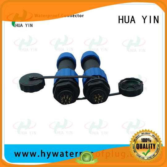 HUA YIN 2 pin waterproof connector cable with high temperature resistant to prevent waterline