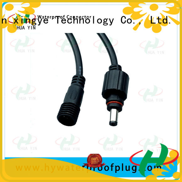 HUA YIN waterproof dc power connector with anti uv for sale