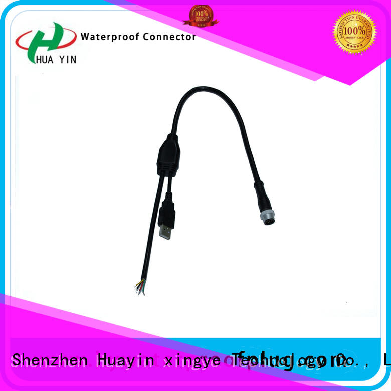 pvc y connector power cable for led HUA YIN