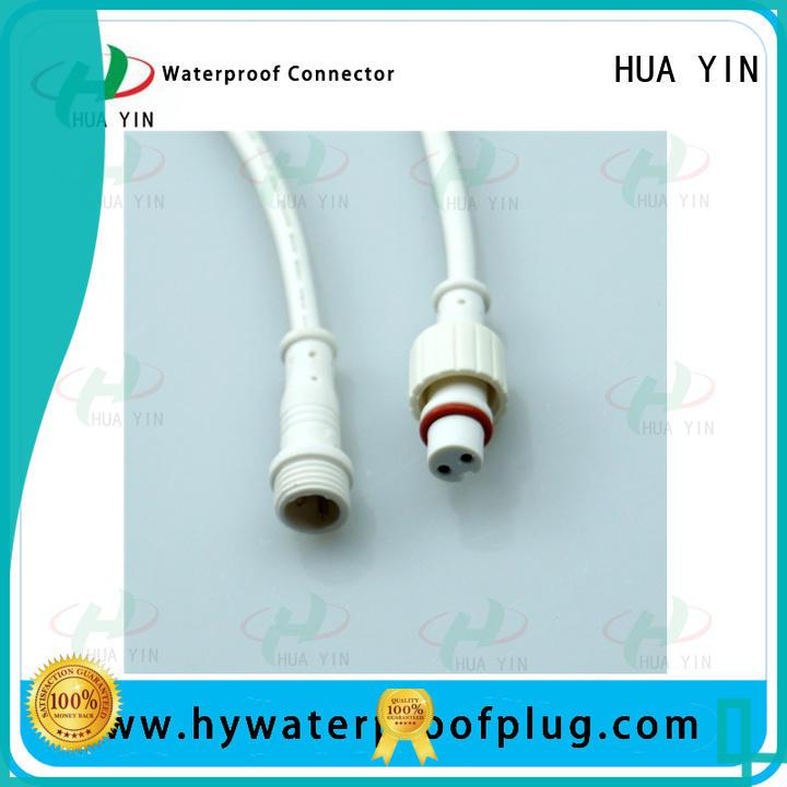HUA YIN five pin waterproof plug maker for display screen