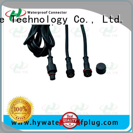 HUA YIN white waterproof electrical plug for electronic industry