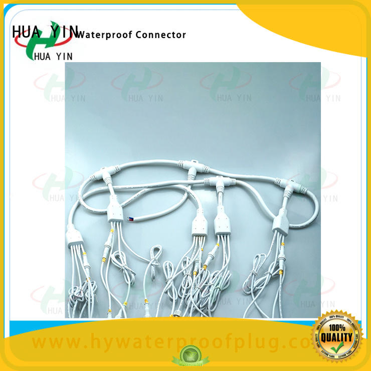HUA YIN six output pvc y connector power cable for cultivation