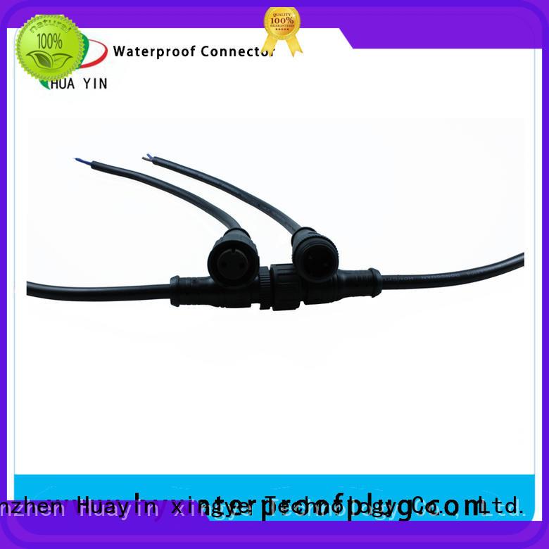 HUA YIN two pin waterproof electrical plug supplier for laser