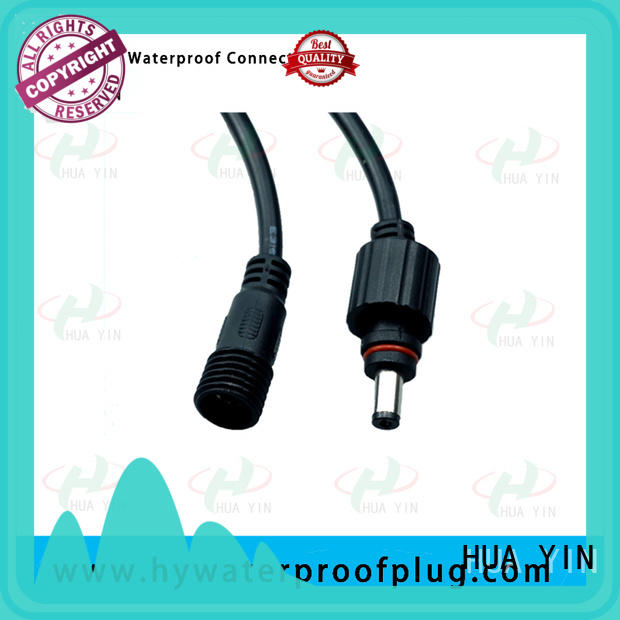 HUA YIN silicone waterproof dc power connector manufacturer for solar power agricultural machinery