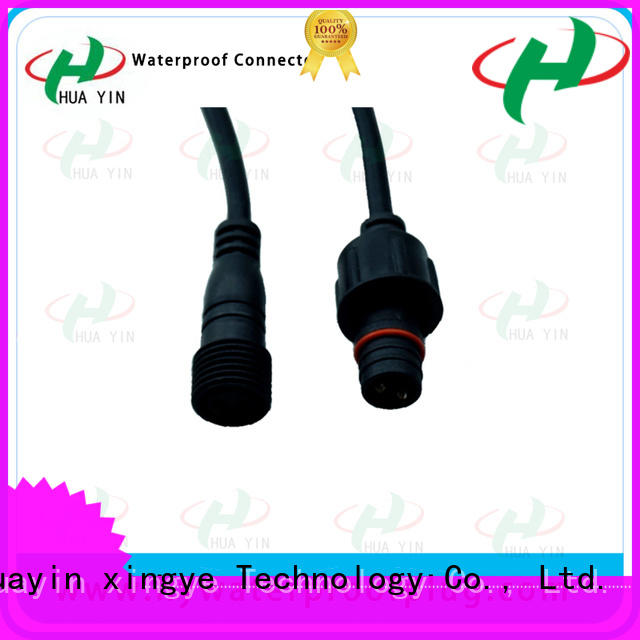 HUA YIN 2 pin waterproof connector plug cable for led