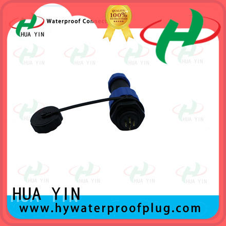 HUA YIN black waterproof inline cable connector for solar street light