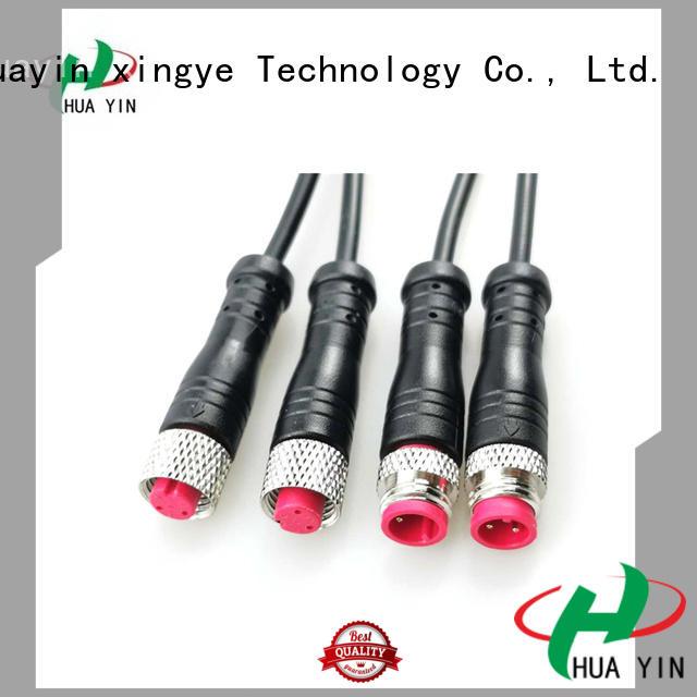 HUA YIN three pin waterproof electrical plug supplier for display screen