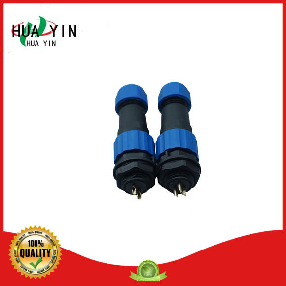 HUA YIN outdoor 2 pin waterproof connector cable with high temperature resistant for solar panel