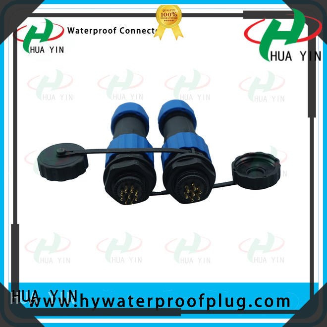 HUA YIN black waterproof electric cable connectors manufacturer to prevent waterline