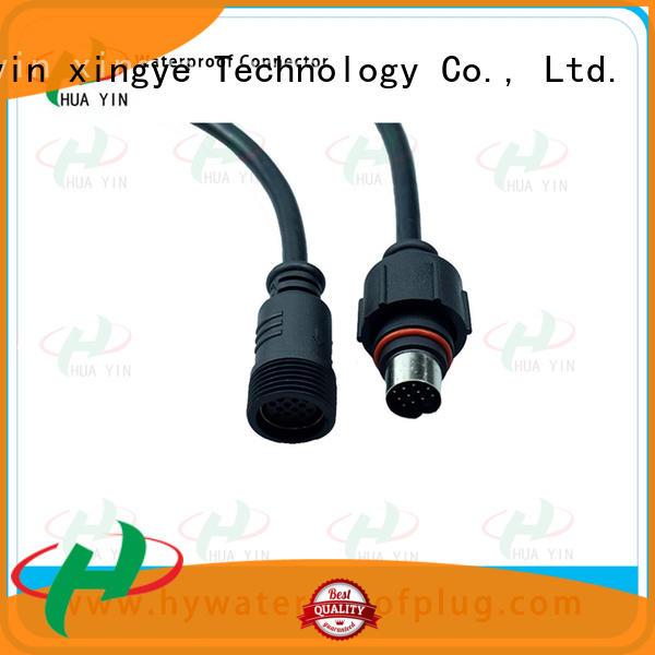 HUA YIN five pin 2 pin waterproof connector plug wholesale for laser