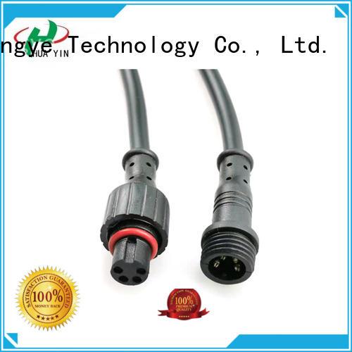 HUA YIN five pin 12v plug connectors manufacturer for laser
