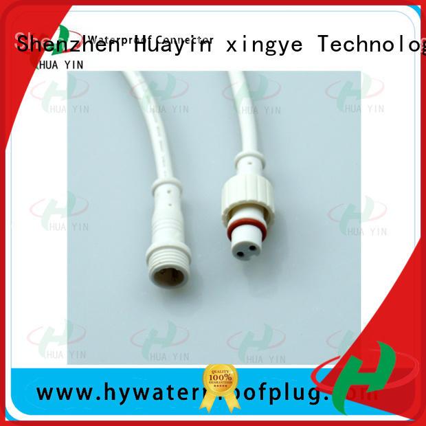 HUA YIN black 2 pin waterproof connector plug maker for display screen