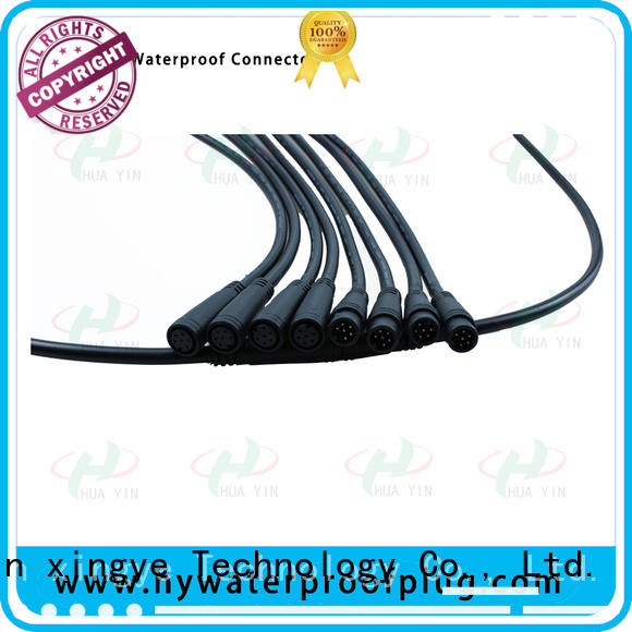 HUA YIN four pin m8 5 pin connector supplier for display screen