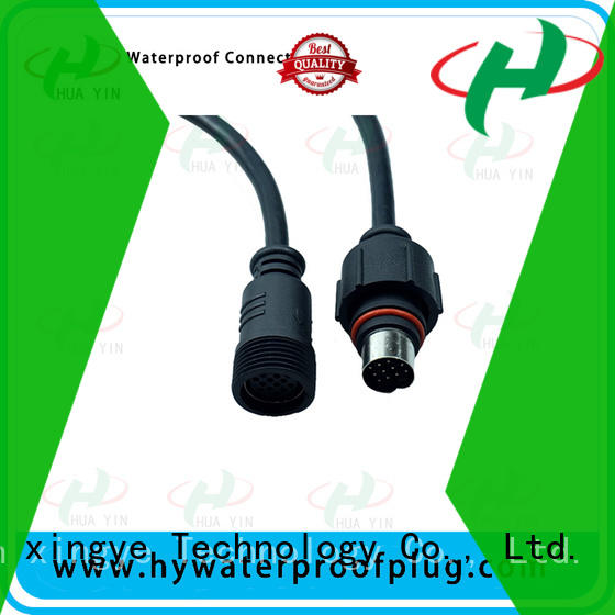 HUA YIN white 2 pin waterproof connector plug wholesale for cultivation