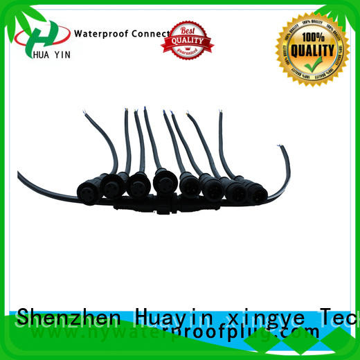 HUA YIN three pin 12v plug connectors for vessel