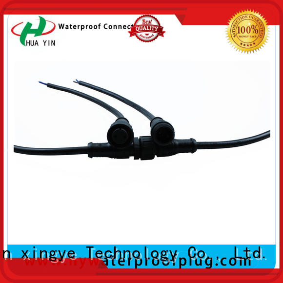 HUA YIN three pin Metal PVC Waterproof Plug wholesale for cultivation