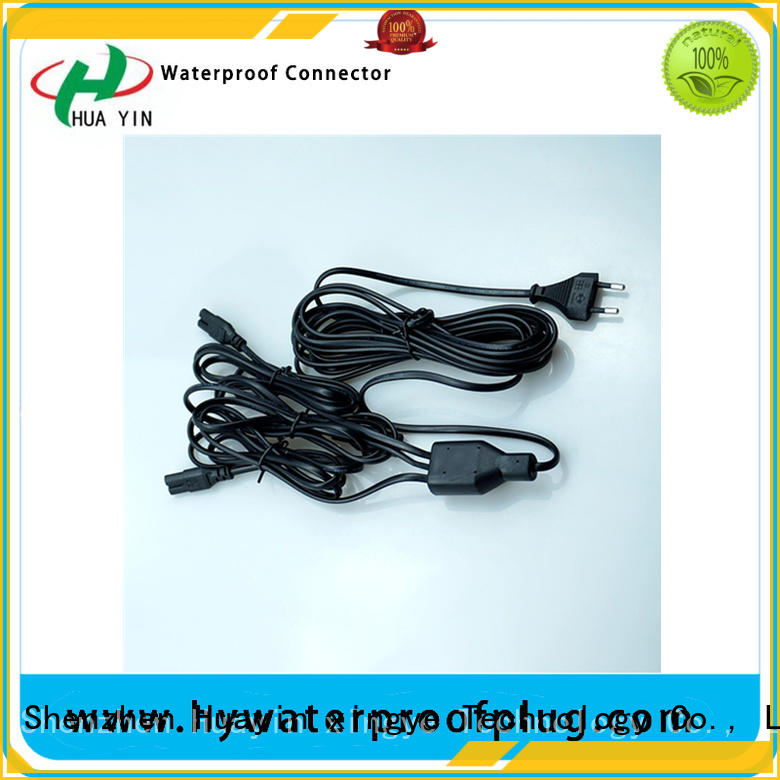 HUA YIN six output pvc y connector plug for floor heating