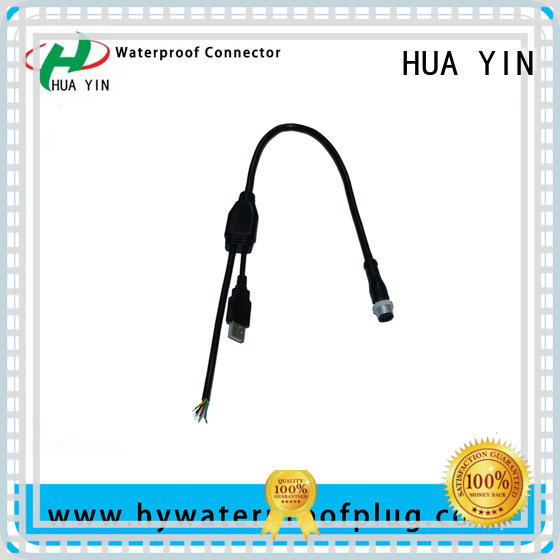 HUA YIN one input y tube connector plug for led