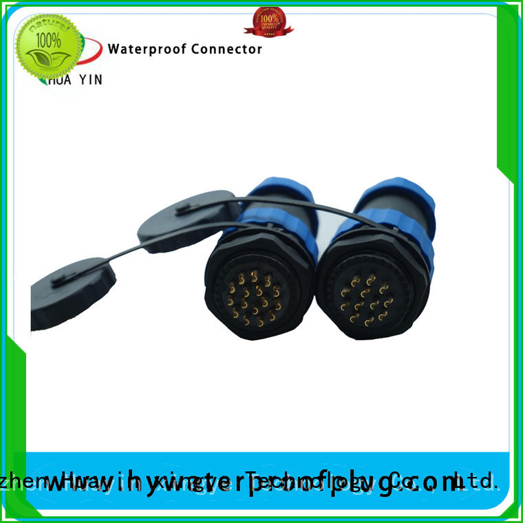 HUA YIN one point waterproof cord connector with wear resistance for outdoor engineering connections