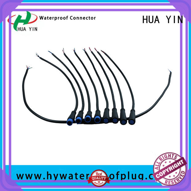 HUA YIN two pin m8 female connector supplier for floor heating