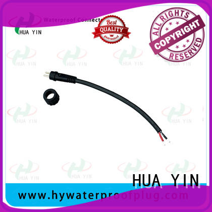 HUA YIN 2 pin waterproof connector plug manufacturer for cultivation