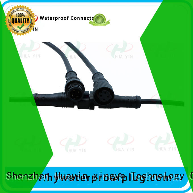 HUA YIN five pin Metal PVC Waterproof Plug manufacturer for display screen