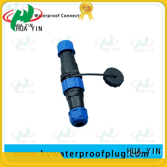HUA YIN assembled 2 pin way waterproof electrical wire connector plug for sale