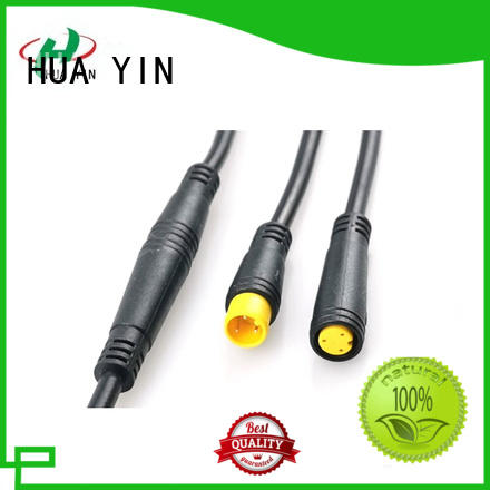 HUA YIN six pin m12 8 pin a coded supplier for led