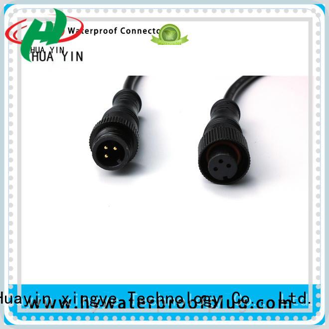 HUA YIN three pin Metal PVC Waterproof Plug supplier for laser