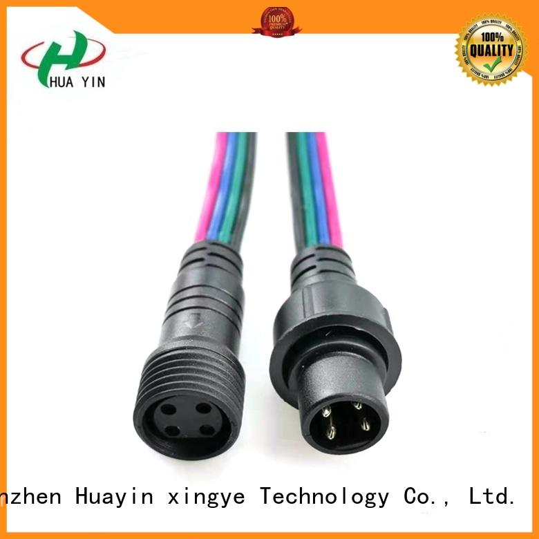 HUA YIN 2 pin waterproof connector plug maker for electronic industry