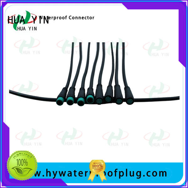 HUA YIN m8 8 pin connector manufacturer for display screen