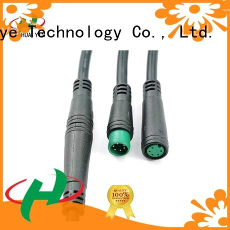 HUA YIN two pin m8 field wireable connector manufacturer for display screen