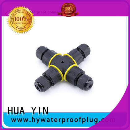 HUA YIN black pendant light cord with straight outlet line for temporary lighting