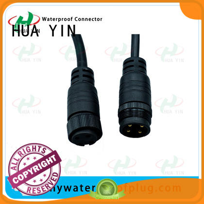 three pin waterproof plug connector wholesale for vessel HUA YIN