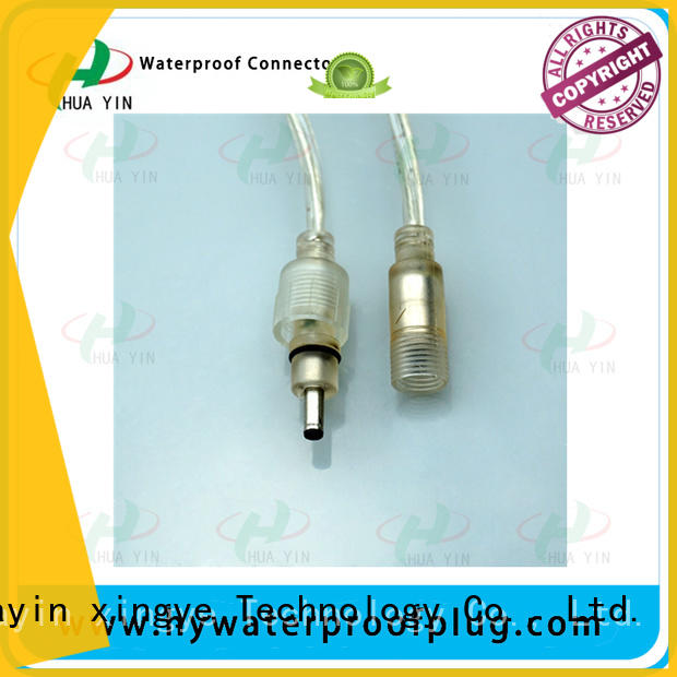 HUA YIN rubber dc plug pvc for lithium battery
