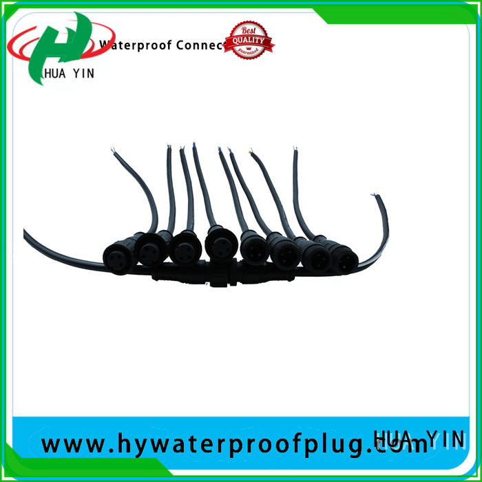 two pin waterproof plug supplier for led