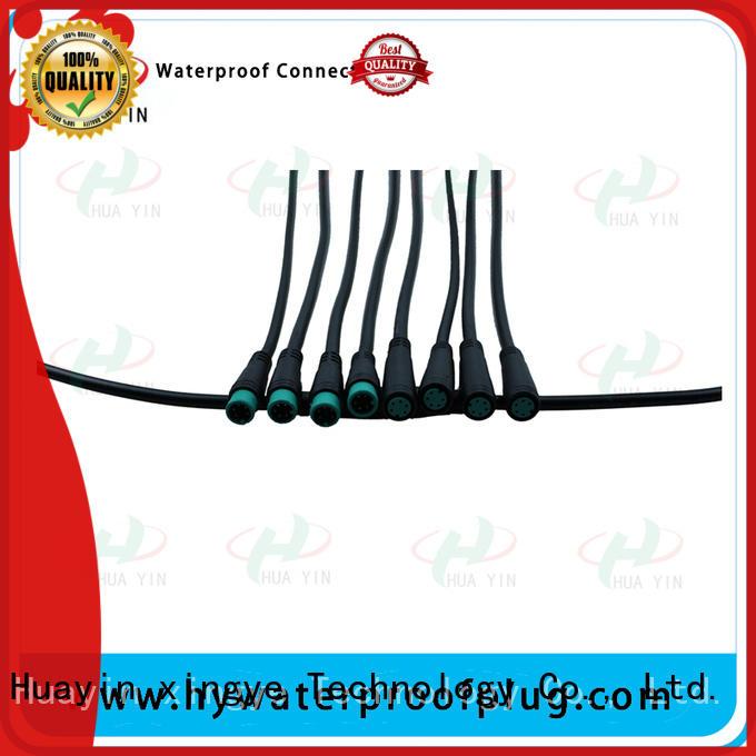 HUA YIN black M8 Waterproof Connector wholesale for display screen