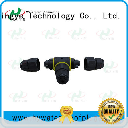 waterproof assembly connector 3pin for led HUA YIN