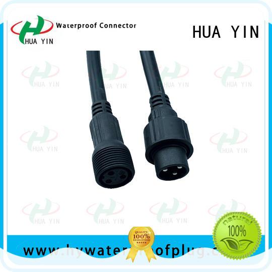 HUA YIN 2 pin waterproof connector plug maker for led