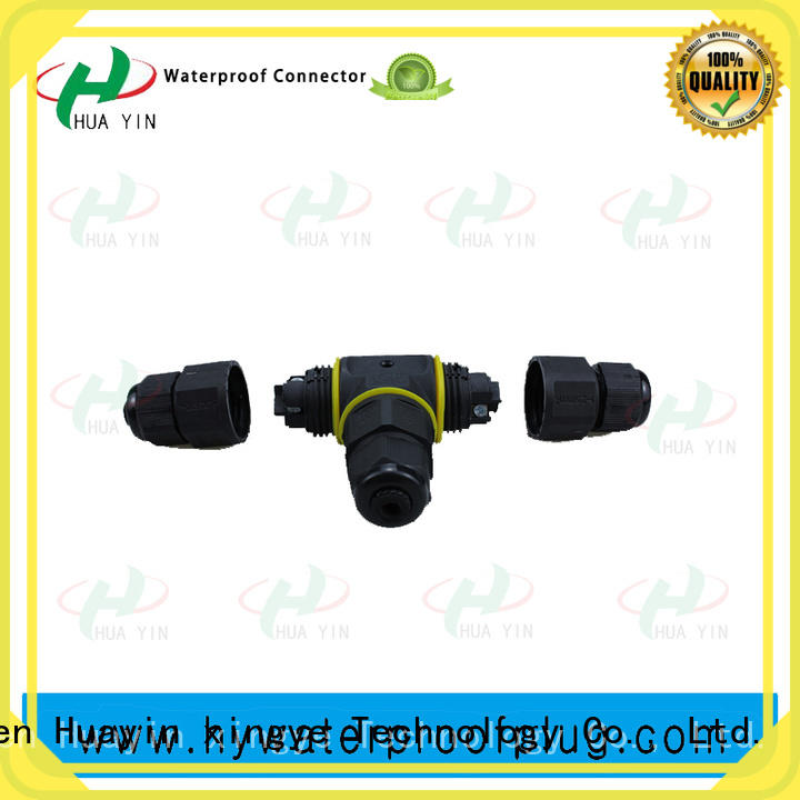 HUA YIN waterproof T Assembly Connector manufacturer for laser